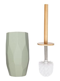 Duck egg faceted toilet brush
