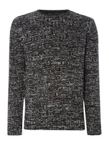 Religion Textured Monochrome Marl Knitted Jumper