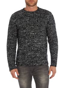 Textured Monochrome Marl Knitted Jumper