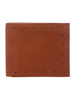 Fred Perry Punched Brogue Bilfold Wallet