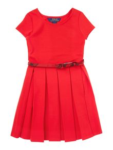 Girls cap sleeved pleated skirt dress