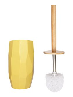 Chartreuse faceted toilet brush