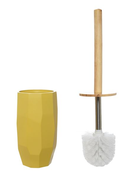 Living by Christiane Lemieux Chartreuse faceted toilet brush
