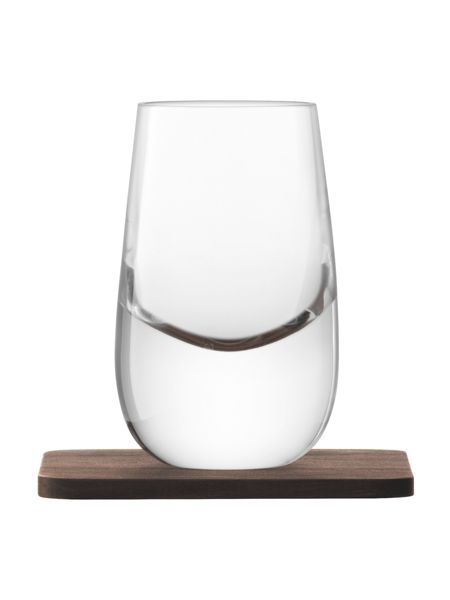 LSA Whisky Islay clear shot glass 80ml Set of 2