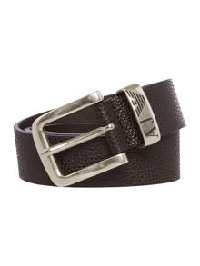 Exclusive leather buckle fastening belt