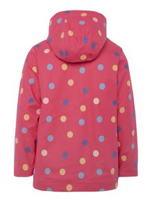 Joules Girls Spotted hooded shower proof jacket