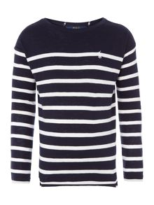 Polo Ralph Lauren Girls long sleeved breton stripe t-shirt