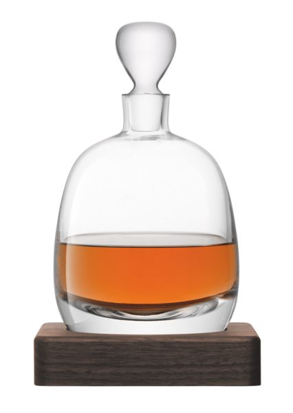 LSA Whisky Islay decanter and walnut base clear