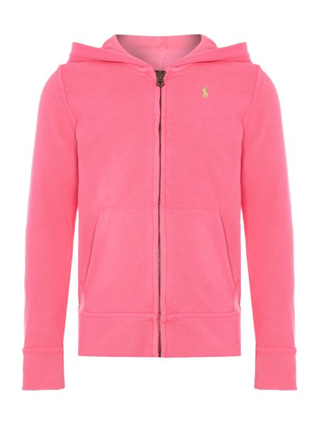Polo Ralph Lauren Girls long sleeve hoody with small pony player