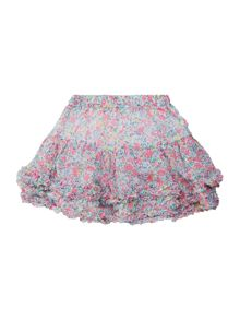 Girls Ditsy print ruffle skirt