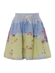 Joules Girls beach boarder skirt