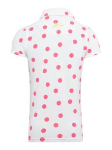 Joules Girls Rabbit applique spotted polo
