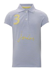 Joules Girls Stripe short sleeve polo
