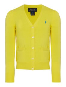 Polo Ralph Lauren Girls cardigan with small pony player