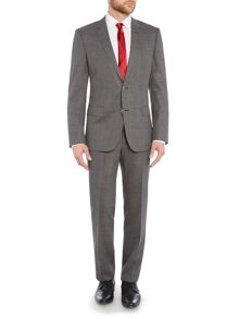 Single Breasted Hutson Gander Textured Grey Suit