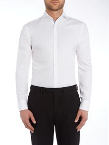 Hugo Boss Slim Fit Jery Pattern Shirt with Contrast Trim
