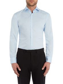 Slim Fit Jery Pattern Shirt with Contrast Trim