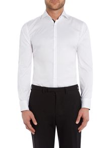 Slim Fit Jery Stretch Contrast Shirt