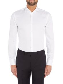 Hugo Boss Slim Fit Jason Shirt in Whiter Jacquard