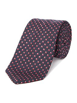 Hugo Boss Navy/Red Jacquard Tie