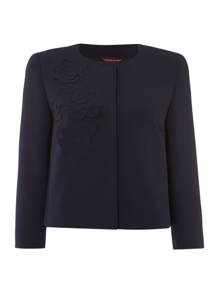 Max Mara Calamo embroidered flower detail jacket