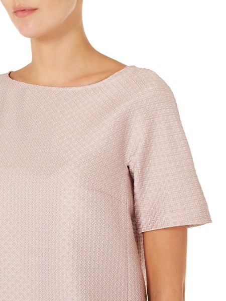 Max Mara Aria short sleeved crew neck jacquard top
