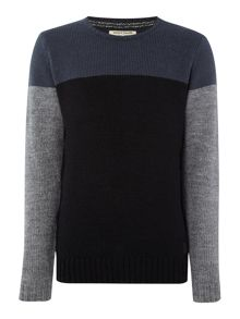 Anerkjendt Lendi colour block crew neck jumper