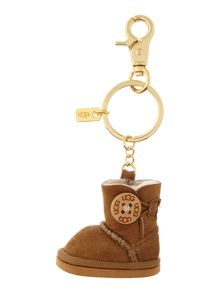 Bailey brown button ugg boot key ring