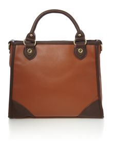 Tan tote crossbody bag