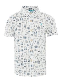 Joules Boys Skate print short sleeved shirt