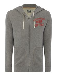 Jack & Jones Track & Field Zip Through Logo Hoodie