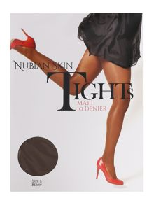 Nubian Skin 10 denier matte tights