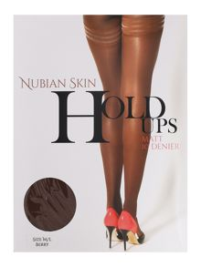 Nubian Skin Berry matte 10 denier hold ups