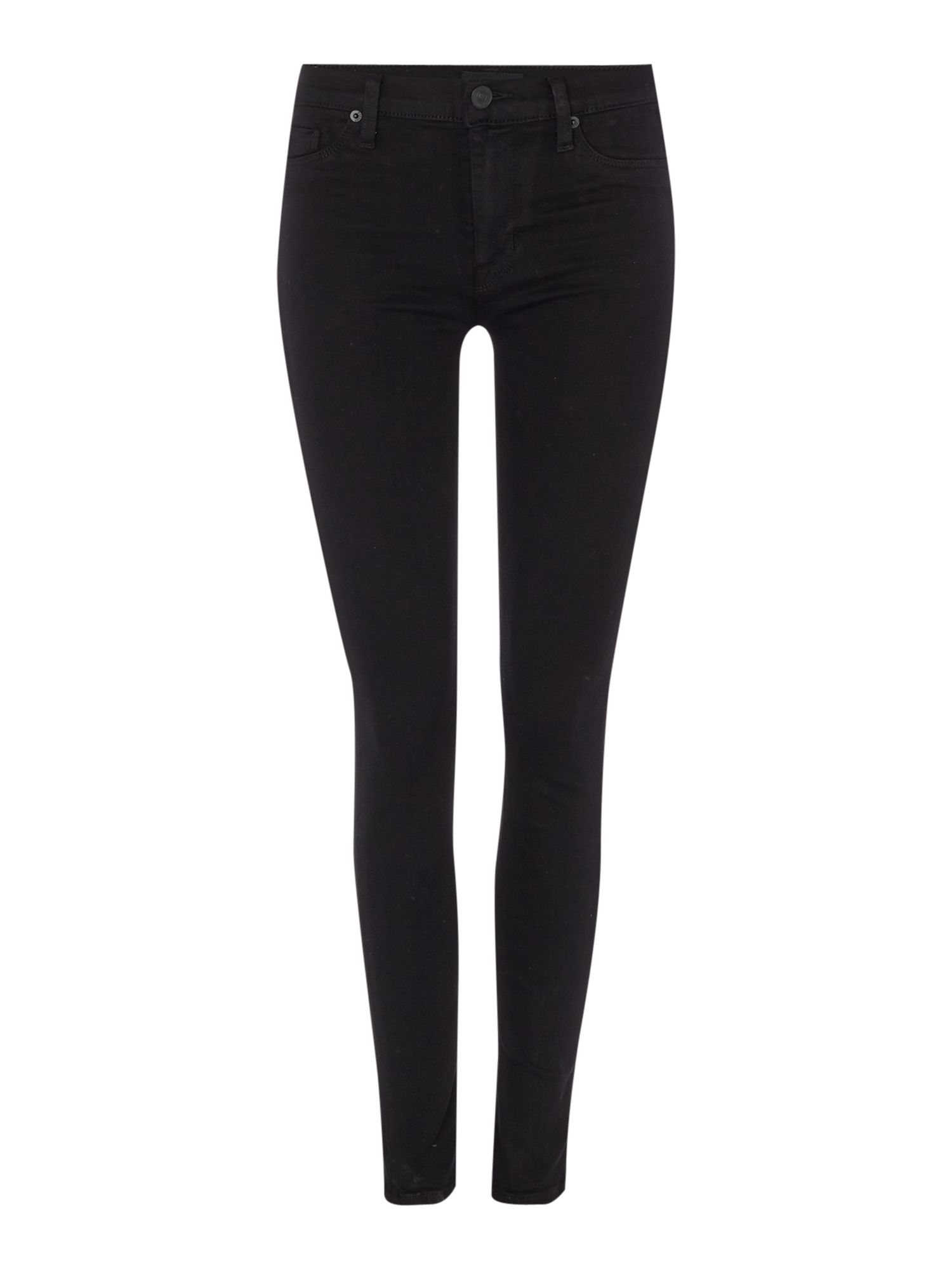 Nico Mid Rise Super Skinny In Black, Black
