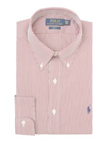 Slim Fit Stripe Dress Shirt