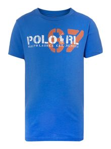Boys short sleeved t-shirt with 67 graphic
