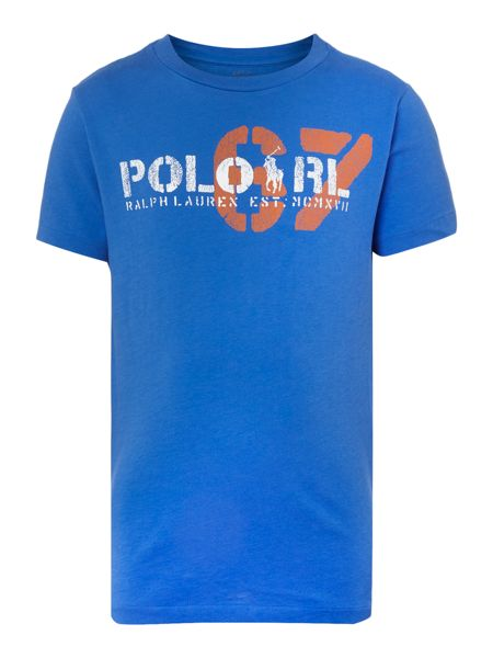 Polo Ralph Lauren Boys short sleeved t-shirt with 67 graphic