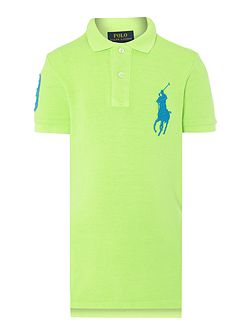 Boys short sleeved polo with big pony player