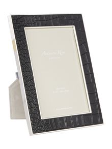 Addison Ross 4x6 faux croc black frame