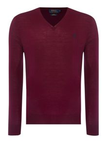 Polo Ralph Lauren V-Neck Slim Fit Merino Wool Jumper