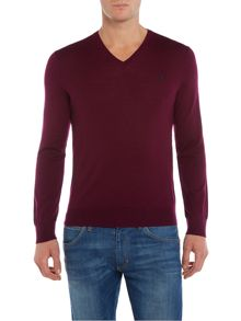 V-Neck Slim Fit Merino Wool Jumper