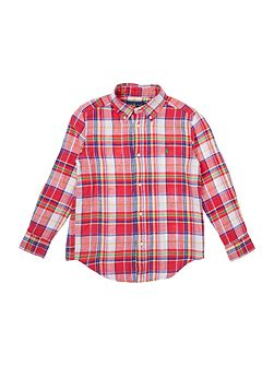 Boys long sleeved shirt with large check