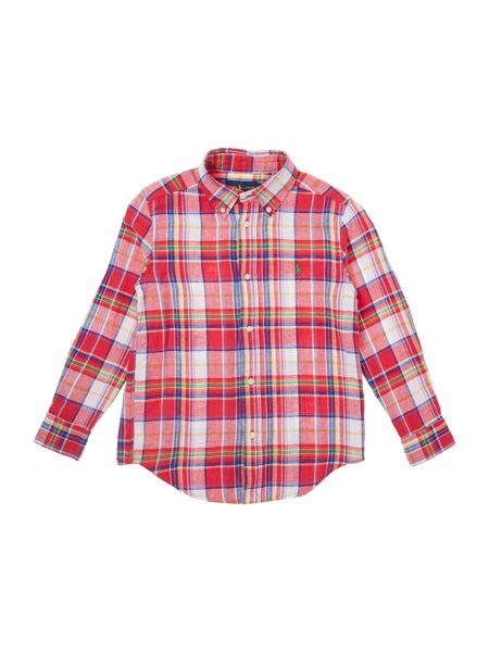 Polo Ralph Lauren Boys long sleeved shirt with large check