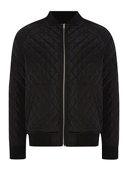 Command Zip Up Quilted Bomber Jacket