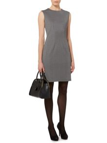 Therapy Texture Contrast Panel Dress