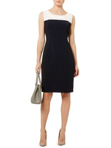 Colourblock tailored dress