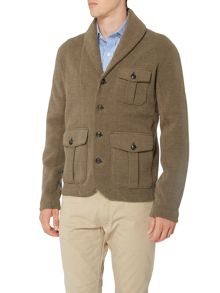 Polo Ralph Lauren Herringbone Shawl Collar Jumper