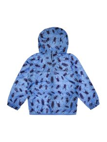 Joules Boys Spider print hooded waterproof mac