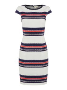 Linea Stripe shift dress