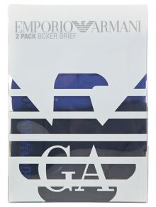 Emporio Armani 2 Pack of  emporio logo boxer brief